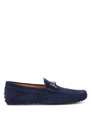 Tod'S: Loafers & Slippers - Double T Gommini suede loafers