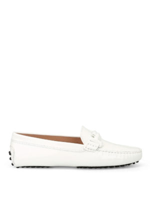 Tod'S: Loafers & Slippers - Double T Gommino white loafers