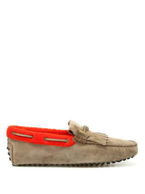 Tod'S: Loafers & Slippers - Double T inner sherling loafers