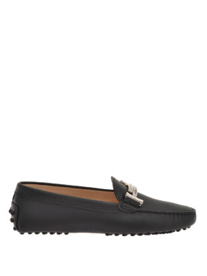 Tod'S: Loafers & Slippers - Double T matte leather loafers