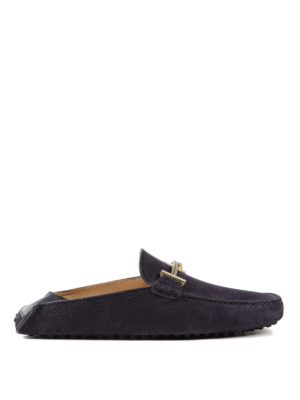 Tod'S: Loafers & Slippers - Double T nubuck slippers
