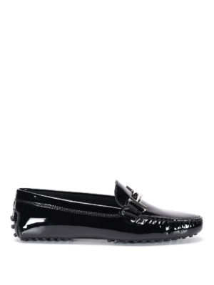 Tod'S: Loafers & Slippers - Double T patent leather car shoes