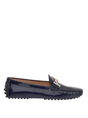 Tod'S: Loafers & Slippers - Double T patent leather loafers