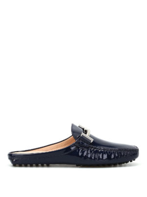 Tod'S: Loafers & Slippers - Double T patent slippers