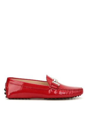 Tod'S: Loafers & Slippers - Double T printed leather loafers