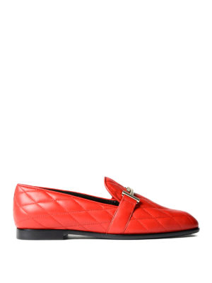 Tod'S: Loafers & Slippers - Double T quilted leather loafers
