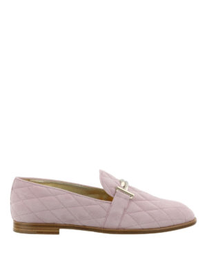 Tod'S: Loafers & Slippers - Double T quilted suede loafers