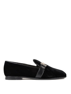 Tod'S: Loafers & Slippers - Double T quilted velvet loafers