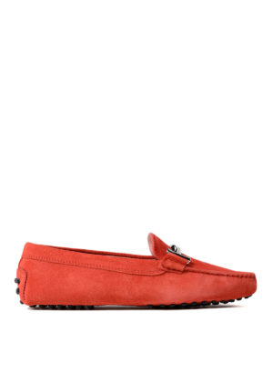 Tod'S: Loafers & Slippers - Double T red suede loafers