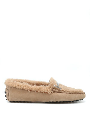 TOD'S: Mocassini e slippers - Mocassini Gommini Double T in montone
