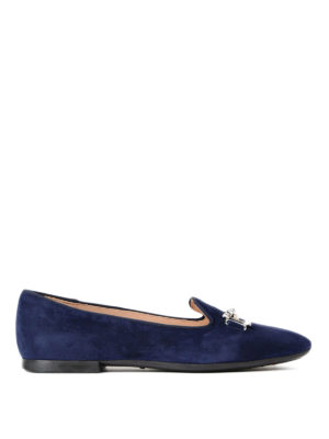 Tod'S: Loafers & Slippers - Double T suede slippers