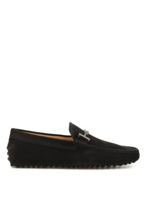 Tod'S: Loafers & Slippers - Double T velvety nubuck loafers
