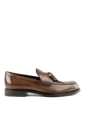 TOD'S: Mocassini e slippers - Mocassini in pelle con doppia nappina