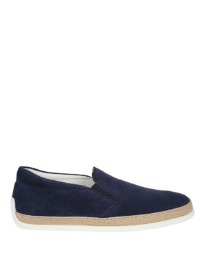 Tod'S: Loafers & Slippers - Elasticated inserts suede slippers
