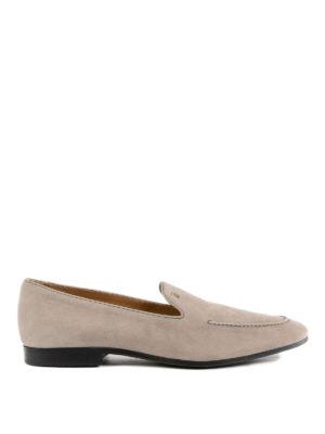 TOD'S: Mocassini e slippers - Mocassini in pelle con logo impresso