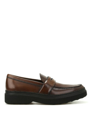 Tod'S: Loafers & Slippers - Faded brushed leather loafers