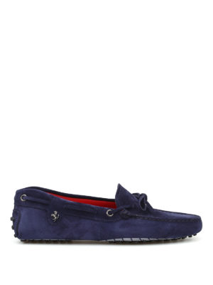 Tod'S: Loafers & Slippers - Ferrari suede loafers