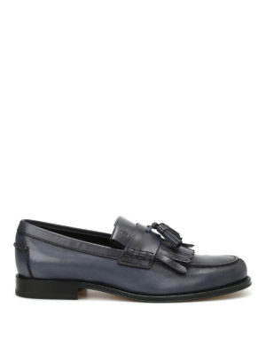 Tod'S: Loafers & Slippers - Fringed leather loafers