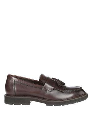 TOD'S: Mocassini e slippers - Mocassini in pelle con frangia e nappina