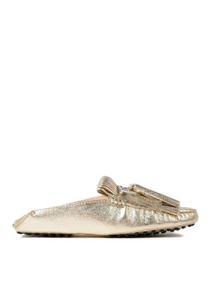 Tod'S: Loafers & Slippers - Fringed loafers with tassels