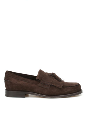 Tod'S: Loafers & Slippers - Fringed suede loafers
