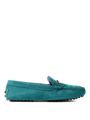 Tod'S: Loafers & Slippers - Fur lined Double T nubuck loafers