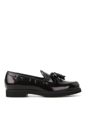 Tod'S: Loafers & Slippers - Glossy leather loafers with tassels