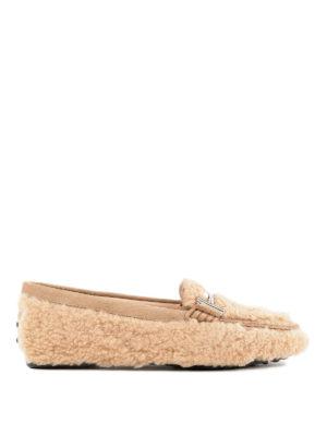 TOD'S: Mocassini e slippers - Mocassini Gomma Lu Doppia T in lana