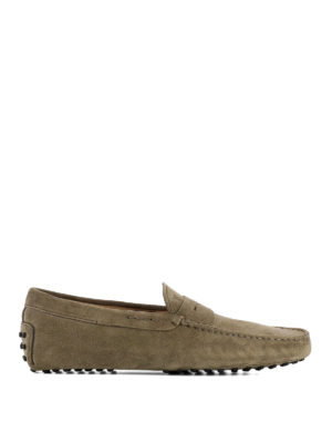 Tod'S: Loafers & Slippers - Gommini beige suede loafers
