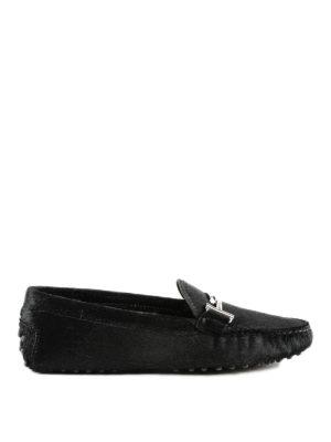 TOD'S: Mocassini e slippers - Mocassini Gommini Doppia T in cavallino