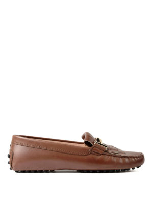 Tod'S: Loafers & Slippers - Gommini double T leather loafers