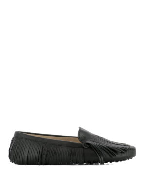 Tod'S: Loafers & Slippers - Gommini fringe detailed loafers