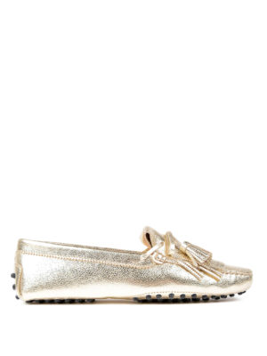 Tod'S: Loafers & Slippers - Gommini fringed loafers