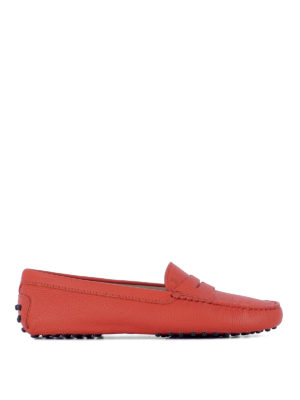 Tod'S: Loafers & Slippers - Gommini grained leather loafers