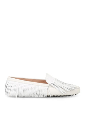 Tod'S: Loafers & Slippers - Gommini multi fringe loafers