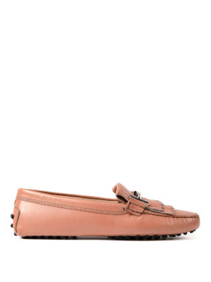 Tod'S: Loafers & Slippers - Gommini pink leather loafers