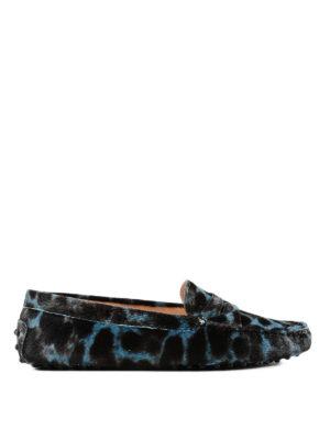 TOD'S: Mocassini e slippers - Mocassini Gommini in cavallino maculati