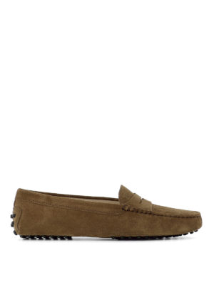 Tod'S: Loafers & Slippers - Gommini suede loafers