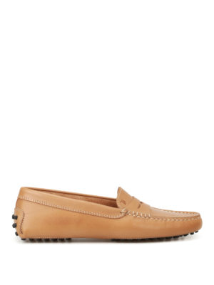 Tod'S: Loafers & Slippers - Gommino beige leather loafers