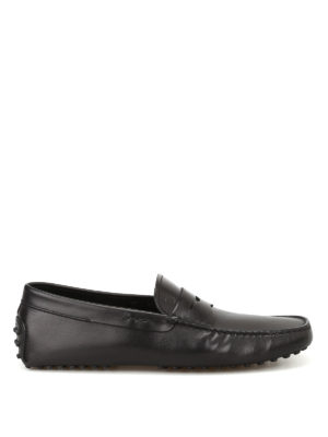 Tod'S: Loafers & Slippers - Gommino black leather driving shoes