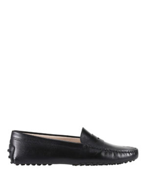 Tod'S: Loafers & Slippers - Gommino black leather loafers