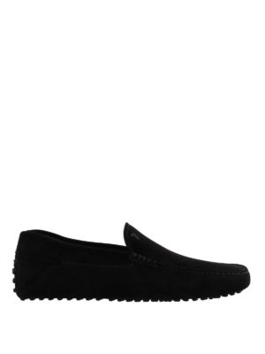 Tod'S: Loafers & Slippers - Gommino black suede loafers