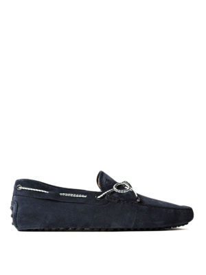 Tod'S: Loafers & Slippers - Gommino blue suede loafers