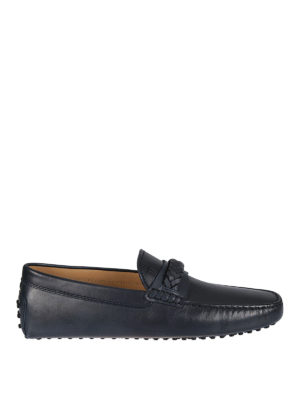 Tod'S: Loafers & Slippers - Gommino braid detailed loafers