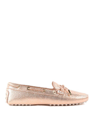 Tod'S: Loafers & Slippers - Gommino crackle leather loafers