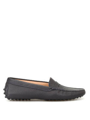 Tod'S: Loafers & Slippers - Gommino dark blue driving shoes