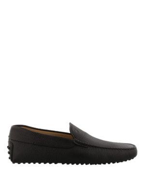 TOD'S: Mocassini e slippers - Mocassini Gommino in pelle marrone
