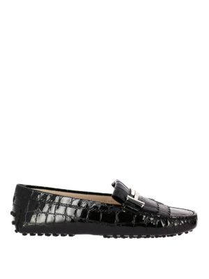 Tod'S: Loafers & Slippers - Gommino Double T fringed loafers