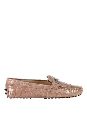 Tod'S: Loafers & Slippers - Gommino Double T pink loafers