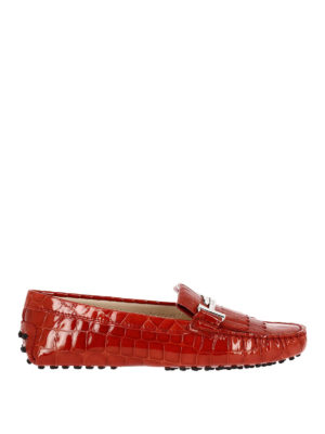 Tod'S: Loafers & Slippers - Gommino Double T red loafers